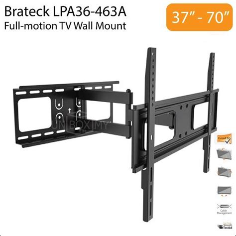best 70 inch tv wall mount brateck lpa36 463a 37 70 inch full motion tv wall end 2 25 2017 4 15 00 pm