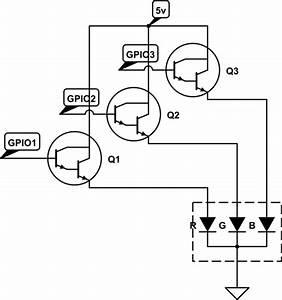 transistors rgb led brightness levels electrical With rgb led circuit