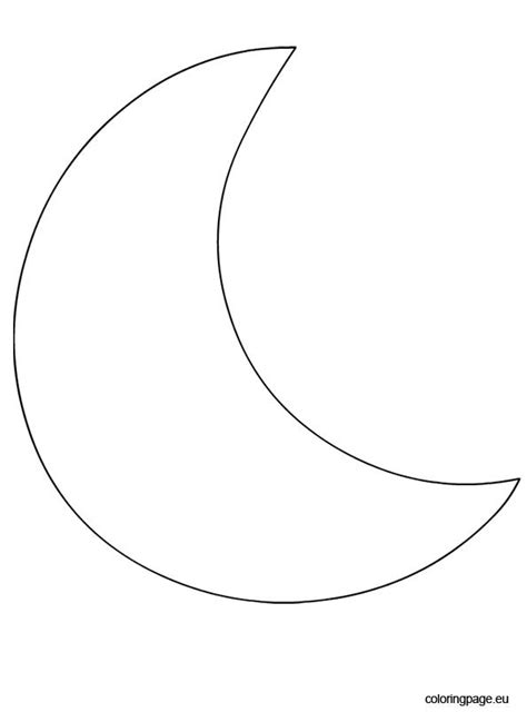 Crescent Moon Shape – Coloring Page