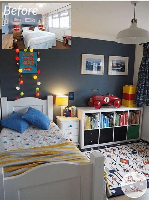 kids room makeover  blue  red boy room boy toddler