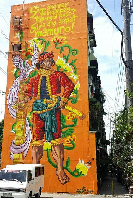ang gerilya paints five storey mural of lapu lapu spot ph
