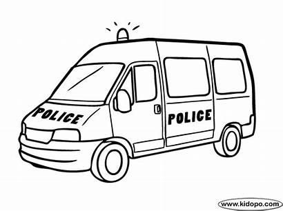 Police Coloring Van Pages