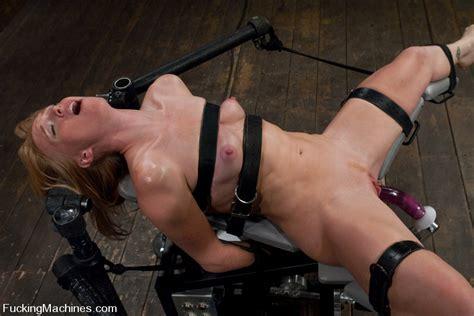 Sexy Strawberry Blond Bound And Machine Fucked Cums Hard
