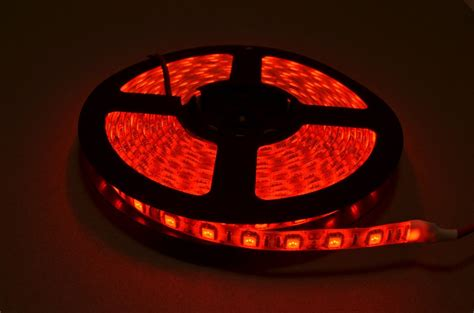 red led light strip red led strip light 5 meter roll bc robotics