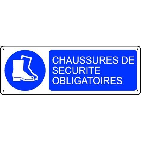 panneau chaussures de sécurité obligatoires stocksignes