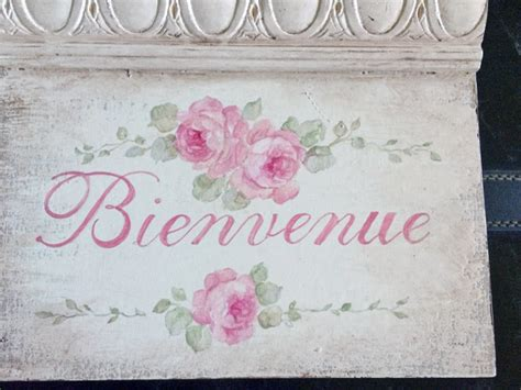 French Welcome Sign