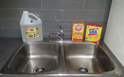 clean sink with baking soda how to clean stainless steel sink stains naturally with