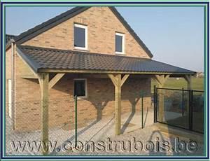 Faire Un Carport : carport bois 2 pentes free stop with carport bois 2 ~ Premium-room.com Idées de Décoration