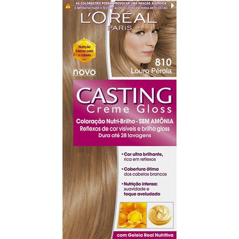 Casting creme lasts much less time. L'oreal Casting Crème Gloss 810 Pearl Blonde Permanent ...