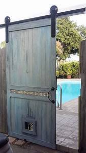 Best 25 track door ideas on pinterest sliding door for Custom barn door kits