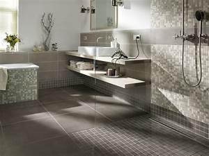 Bodenfliesen Badezimmer Grau : badezimmergestaltung in grau ~ Sanjose-hotels-ca.com Haus und Dekorationen