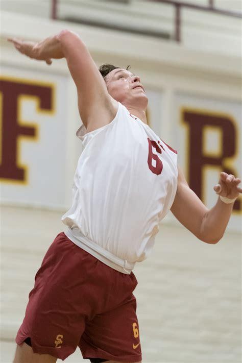 mens volleyball opens postseason play  win daily trojan