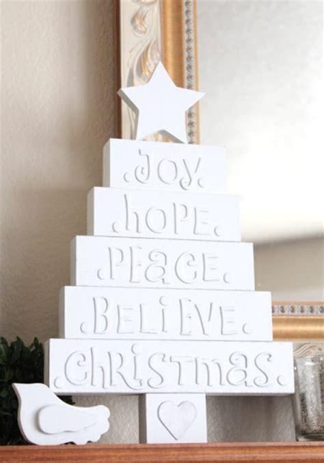 crafty white christmas tree diy holiday decor