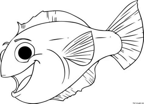 print  happy aquarium fish coloring pages  printable coloring pages  kids