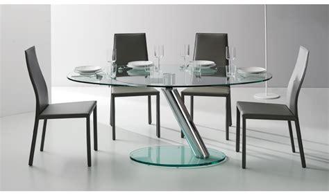 verre trempé pour table tr 232 s table ronde avec un plateau et une rallonge en