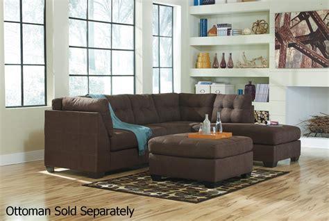 ashley maier   brown fabric sectional sofa