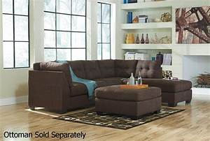 Maier brown fabric sectional sofa steal a sofa furniture for Sectional sofa los angeles ca