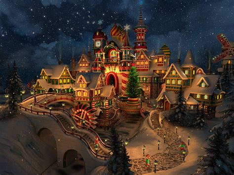 holidays  screensavers santas castle