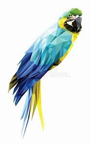 Oiseau Jaune Et Bleu : bas polygone d 39 ara bleu et jaune d 39 isolement sur le fond blanc dessin g om trique moderne d ~ Melissatoandfro.com Idées de Décoration