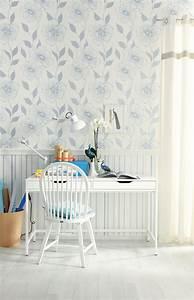 Schöner Wohnen Weiß : sch ner wohnen tapete beautiful blossom blau metallic wei kollektion 7 ~ Watch28wear.com Haus und Dekorationen