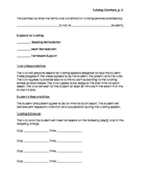 tutor contract  orton gillingham tutor teachers pay
