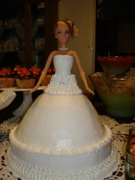 bridal shower barbie cake  doll cake food decoration