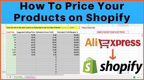 price  products  shopify  dropshipping