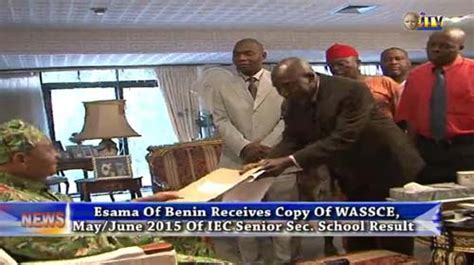 esama receives copy of wassce of iec result independent