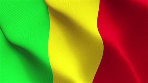 Mali flag Footage | Stock Clips