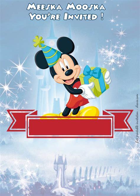 minnie mouse birthday invitation templates bagvania