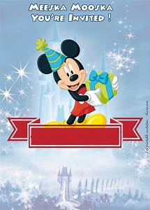 Princess Party Invites Free Mickey Mouse Clubhouse Disney Castle Invitation