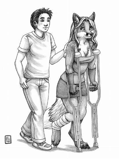 Jazmyn Furry Ken Doove Bernard Programmer Crutches