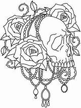 Coloring Skull Pages Adults Colouring Unique Gothic Printable Projects Goth Designs Embroidery Urban Paper Skulls Adult Tattoo Threads Drawing Patterns sketch template