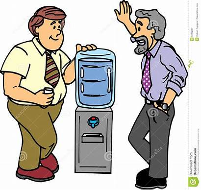 Cooler Clipart Water Chat Watercooler Talk Guys