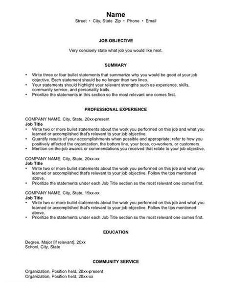 Chronological Resume Information by Basic Chronological Resume Templates Chronological