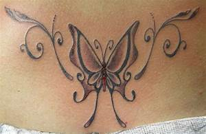 Tatouage Bas Dos Femme : tattoos papillon ~ Nature-et-papiers.com Idées de Décoration