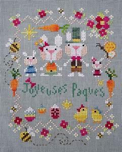 Joyeuses Paques Images : barbara ana joyeuses p ques point de croix ~ Voncanada.com Idées de Décoration