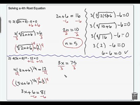 Solving Radical, Equations And Inequalitieswmv Youtube