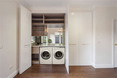 Laundry Cupboard Doors by Mont Albert Laundry After Laundry White 2pac
