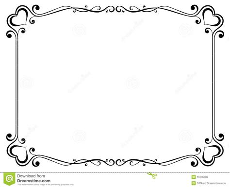 decorative frame  heart royalty  stock images