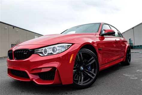 red bmw bmw m3 in ferrari red individual color