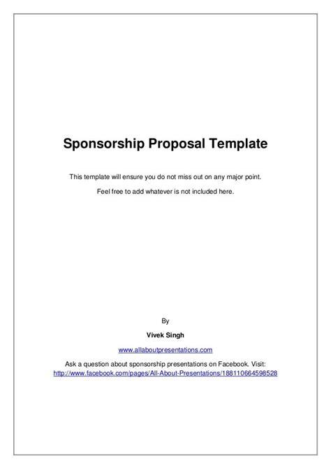 sponsorship proposal template  vivek singh