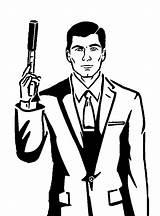 Archer Sterling Tv Fx Stencils Cartoon Agent Secret Suit Stencil Tattoo Imgur Isis Designs Coloring Pages Silhouette Netflix Pumpkin Cartoons sketch template