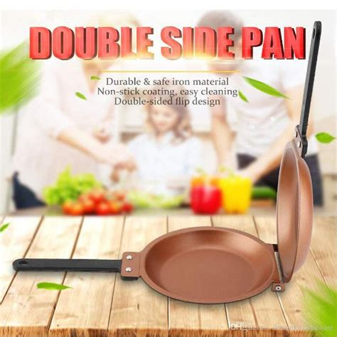 high quality  stick copper frying pan double side grill fry pan cookware double face pan