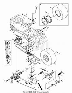 Troy Bilt 13al78kt066 Tb46  2014  Parts Diagram For Transmission Drive Assembly