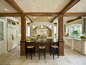 kitchen islands with columns traditional kitchen photos hgtv