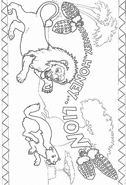 Lion Mountain Coloring Pages Male Female Printable