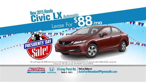 autofair honda  plymouths presidents day sale youtube