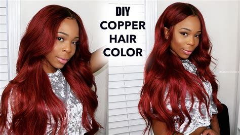 Easy Copper Hair And How I Dye My Frontal! \ Supernovahair