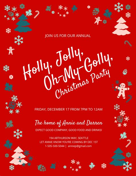 Jolly Christmas Party Invitation Template